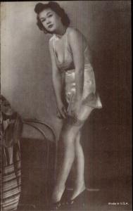 Sexy Pin-Up Woman Semi Nude Arcade Exhibit Card c1920s-30s #6