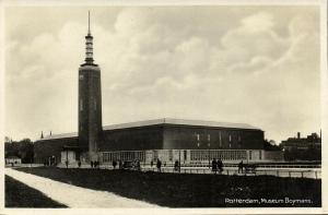 netherlands, ROTTERDAM, Museum Boymans, Architect Ad van der Steur (1935) RPPC