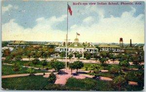 1917 Phoenix, Arizona Postcard Bird's-Eye View Indian School Native Americana