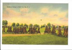 Soldiers Going to Drill, Fort Dix, New Jersey, PU-1943