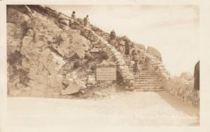 RP, ADIRONDACKS, NY, 10-20s; Stone Staircase, Notice Proceed at own Risk