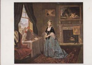 John Zoffany Elderly Actress Sussex Petchworth House Theatre Painting Postcard