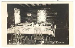 RP: Dining Room , TH Ranch , HANCEVILLE , B.C. , Canada , 1930-40s