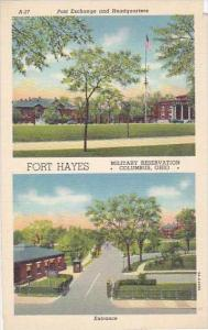 Ohio Columbus Post Exchange And Headquarters Fort Hayes Entrance