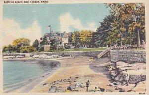 Maine Bar Harbor Bathing Beach 1954