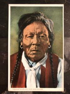 Mint Postcard Native American Indian Chief Rock Thunder Canada