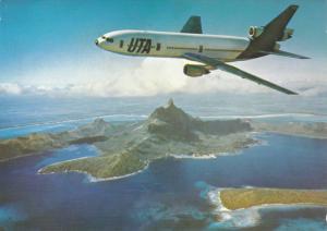 UTA airlines DC 10-30 Jet Airplane , 80-90s