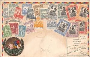 E46/ Barbados Foreign Postcard Caribbean c1910 Philatelic Stamps Pence 17