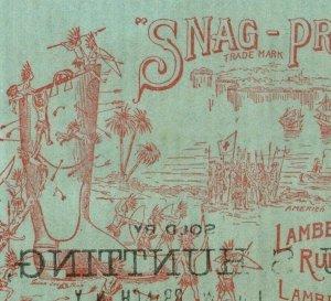 1893 World's Fair Columbus Landing Lambertville Rubber Co. P222