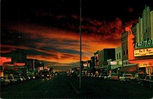 Colorado Lamar Main Street At Sunset