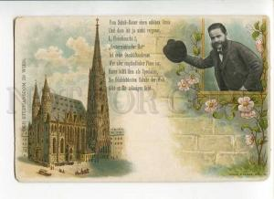 271155 AUSTRIA Gruss WIEN Stephansdom Vintage litho postcard