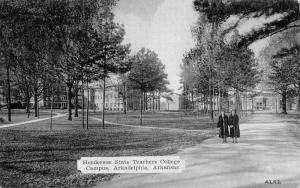 Arkadelphia Arkansas Henderson State Teachers College Antique Postcard K90798