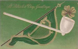 Saint Patrick's Day Harp Flag &  Pipe