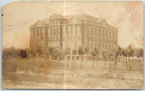 Enid, Oklahoma RPPC Real Photo Postcard EAST HILL SCHOOL Building View c1910s