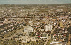 Canada Edmonton Aerial View Governmental Area Alberta