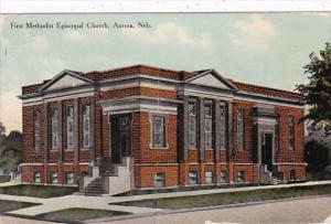 Nebraska Aurora First Methodist Episcopal Church Curteich