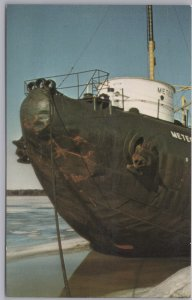 Superior, Wis., Snout of last Pig Boat, The Whaleback Steamer S.S. Meteor-