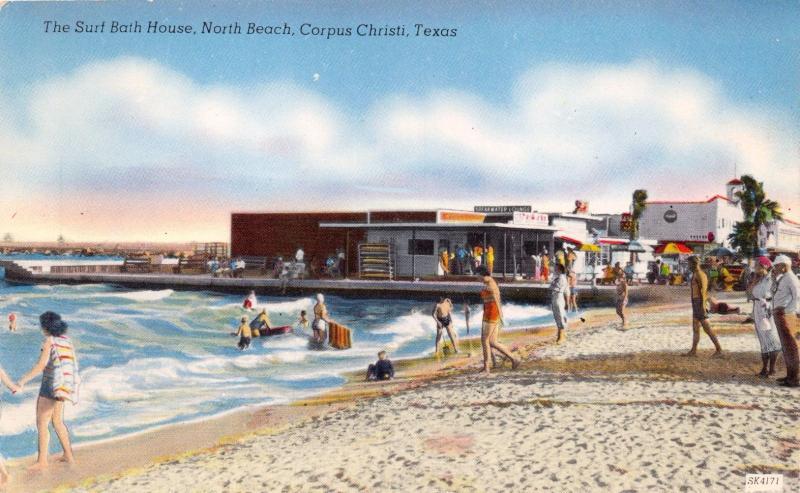 CORPUS CHRISTI TX NORTH BEACH~SURF BATH HOUSE~GULF WATERS~ALS