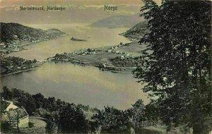 Norway Norheimsund Hardanger Nordge Lake Village General view Postcard