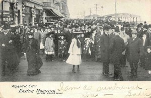ATLANTIC CITY, NJ Easter Morning On The Board Walk 1906 Vintage Postcard