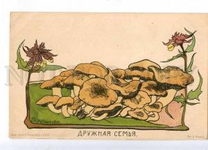 231838 RUSSIA KRUGLIKOVA mushrooms Friendly family St. Eugenie