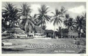 Philippines, Pilipinas Nipa Houses Nipa Houses Printed Photo