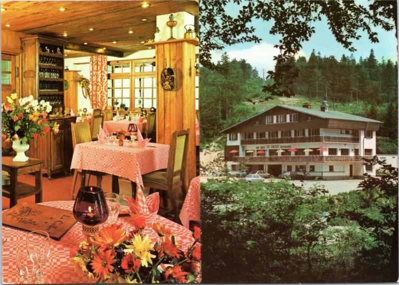 postcard France - Le Collet Hotel and Restaurant - Xongrupt-Longemer Vosges