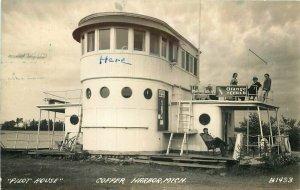 Copper Harbor Michigan Pilot House 1942 RPPC Photo #B1433 Postcard