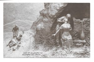 Yesterday and Today Man Woman Love D Mastroianni Sculptor A Noyer Postcard 1911