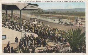 A Close Finish, Lower California Jockey Club, Tijuana, Mexico, 1910-1920s