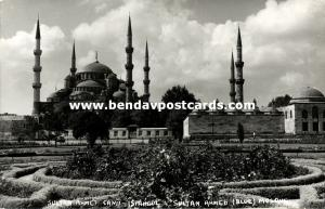 turkey, ISTANBUL, Sultan Ahmed Blue Mosque, Islam (1950s) RPPC II