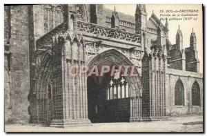 Postcard Dol de Bretagne Old Porch of the Cathedral