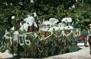 1906 Floral Parade Float, Pasadena, California Vintage Postcard P8