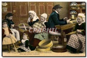 Old Postcard Folklore sieves and screens weaving in a family of Bannalec