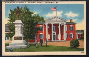 Court House,Statue of Confederate Soldier,Charlottesville,VA