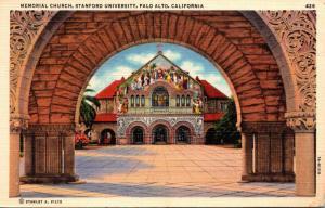 California Palo Alto Memorial Church Stanford University 1938 Curteich