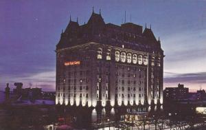 Night View, The Fort Garry Hotel, Winnipeg, Manitoba, Canada, 40-60s