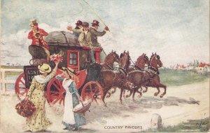 A.Ludovici. Country favours . Horses Tuck Oilette Coachin Scenes Ser.     PC #
