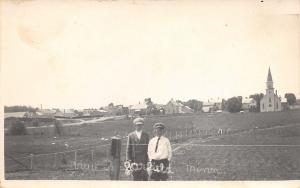 Garfield Minnesota~Wittnebel Boys In Front~Town Panorama~Homes~Church~c1918 RPPC