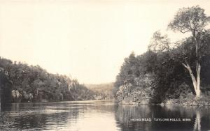 Taylors Falls Minnesota~Indian Head~Peaceful River Scene~c1910 RPPC Postcard