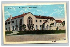 Vintage 1910's Postcard Pretty Home in Los Angeles California