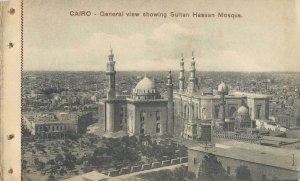 Postcard Africa EGYPT Cairo general view Sultan Hassan Mosque minaret