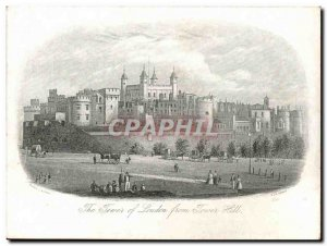 Great Britain Postcard Old London The Tower of London from Tower Hill London ...