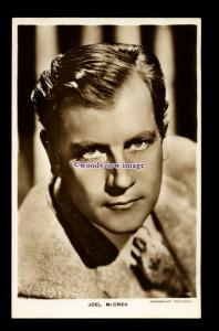 b6472 - Film Actor - Joel McCrea No.130 - Paramount Pictures - postcard