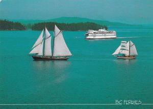 Ferry Boat , Swartz Bay , B.C. , Canada ,  1993 ; Sailing Training Boats ROB...
