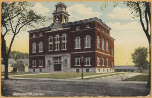 Rochester, New Hampshire - City Hall Building - 1920