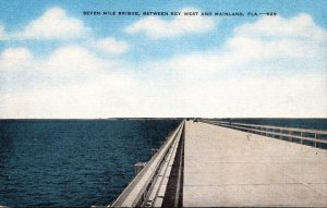 Florida Seven Mile Bridge Between Key West and Mainland