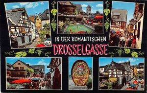 GG12706 In der Romantischen Drosselgasse Ruedesheim Brunnen Drosselhof