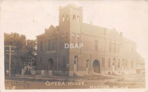 C18/ Hector Minnesota Mn Real Photo RPPC Postcard 1911 Opera House