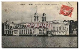 Old Postcard Enghien Les Bains Casino and Theater saw Lake